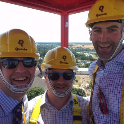 David (DCC Support Services), Alun and Me 30 metres above the Norfolk Showground