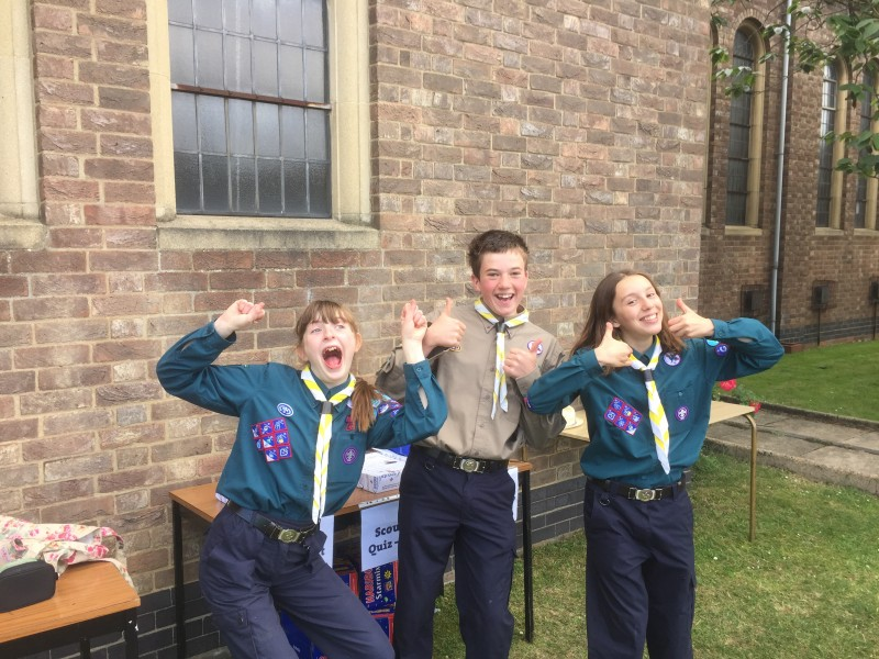 Young People promoting Scouting at St George's Church