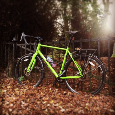 My cyclocross bike at Crostwick church