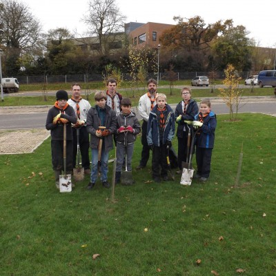 Scouts partner Academy to plant trees