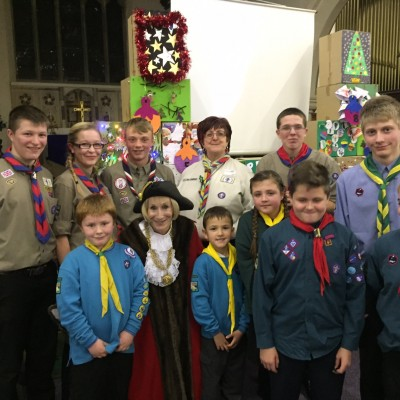 Mayor joins Scouts in celebration and helping others