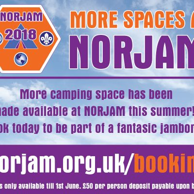 More camping space at NORJAM!