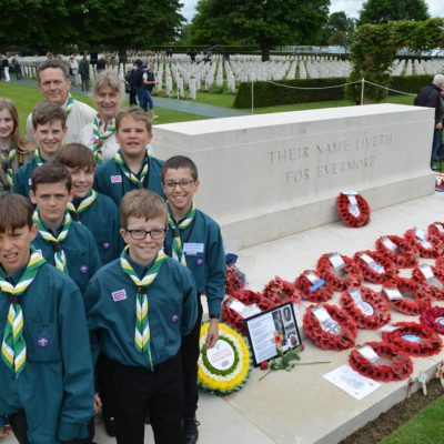 Cringleford Scouts and Explorers Honour the Fallen 🌹⚜️