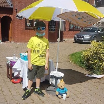 George raises £200 for the NHS – What a STAR