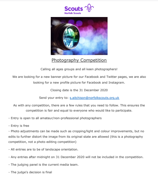 2020 Photo Competition